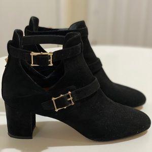 Valentino rockstud suede boots